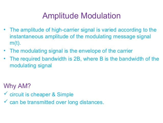 Am modulation and demodulation with circuit and output amplitude modulation publicscrutiny Gallery