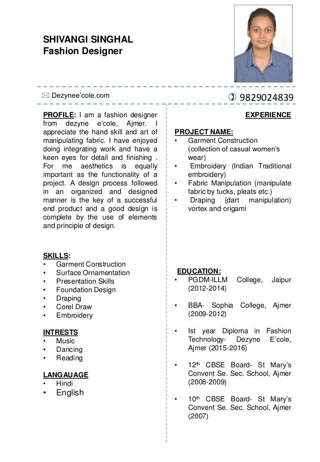 Shivangi Singhal One Year Fashion Design Diploma Programme In Women