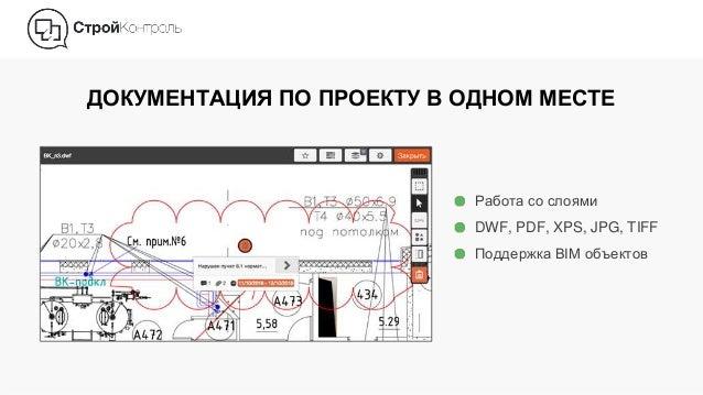 ДОКУМЕНТАЦИЯ ПО ПРОЕКТУ В ОДНОМ МЕСТЕ Работа со слоями DWF, PDF, XPS, JPG, TIFF Поддержка BIM объектов