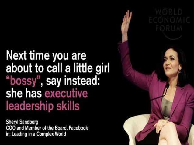 women in corporates Facebook executive sheryl sandberg kimberly white/getty women do not participate in the global economy to the same extent as men do, according to a study on gender diversity in corporate .