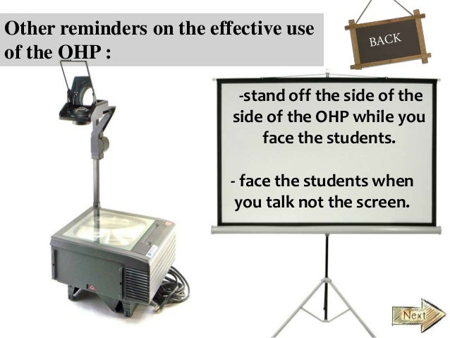 Maximizing The Use Of Overhead Projector And The Chalkboard