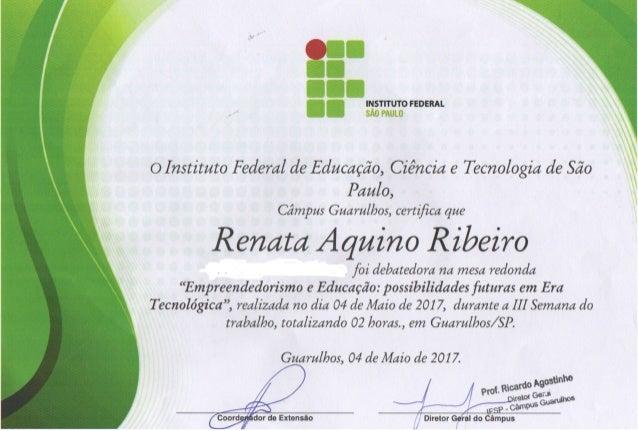 certificado apresentacao ifsp guarulhos empreendedorismo e internet