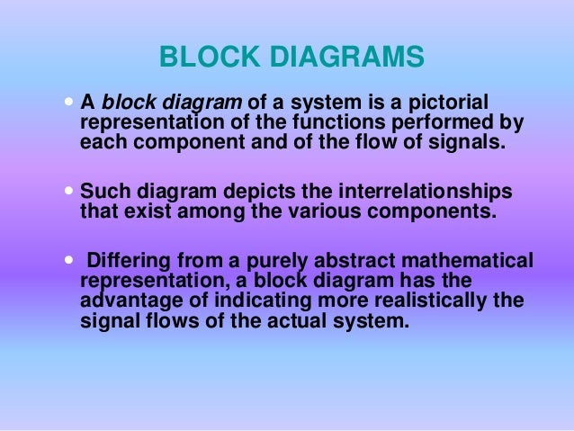 Significance of block diagram and signal flow graph in control system block diagrams ccuart Choice Image