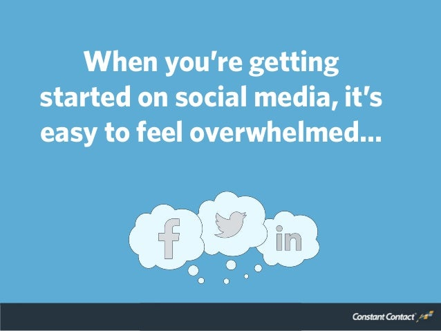 When you're getting started on social media, it's easy to feel overwhelmed…