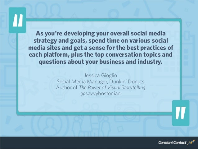 As you're developing your overall social media strategy and goals, spend time on various social media sites and get a sens...