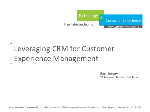 Leveraging CRM for Customer     Experience Management                                                                     ...