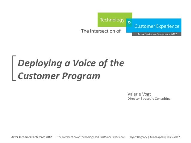 Deploying a Voice of the     Customer Program                                                                             ...