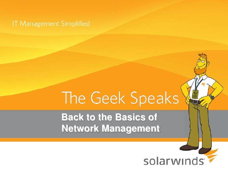 Back to the Basics of <br /> Network Management<br />