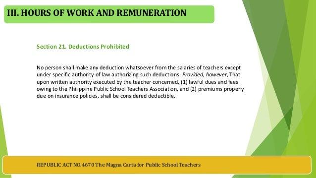 republic act no 4670 Republic act no 4670 june 18, 1966 the magna carta for public school teachers i declaration of policy coveragesec.