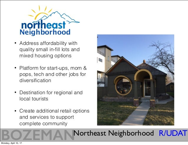 Bozeman, Montana: A Vision for the Northeast Neighborhood