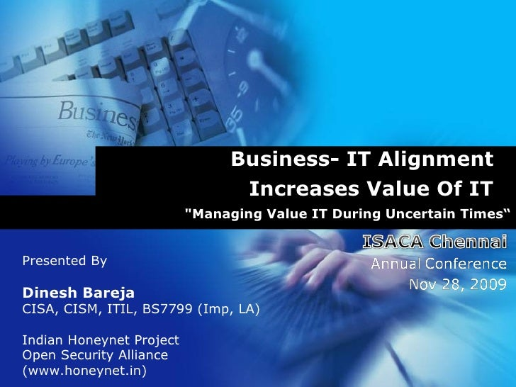 Business - IT Alignment Increases Value Of IT