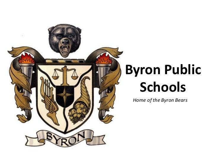 Byron Public  Schools Home of the Byron Bears