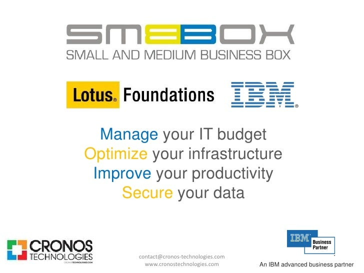 Manage your IT budget Optimize your infrastructure  Improve your productivity      Secure your data          contact@crono...