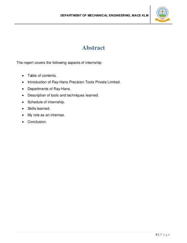 Summer Internship Report 2016 (mechanical Engineering). Bsa Medical Form.