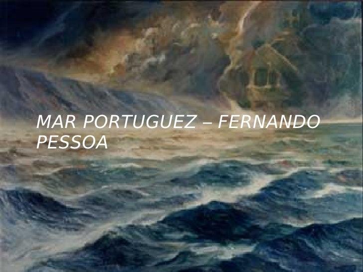MAR PORTUGUEZ – FERNANDO PESSOA