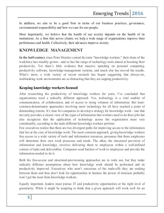 McKinsey & Company: Managing Knowledge and Learning Essay Sample
