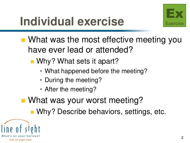 Top 10 Must Do's For Effective Meetings Slide 2