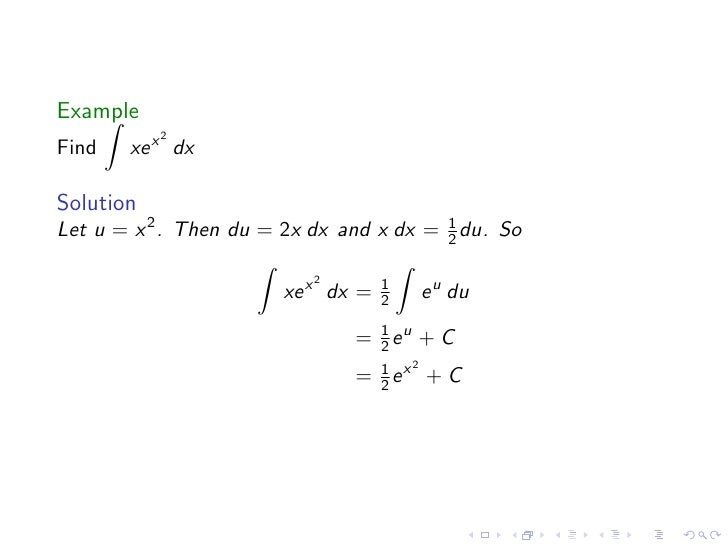 how to find antiderivative of xe x
