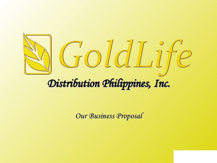 Distribution Philippines, Inc. Our Business Proposal