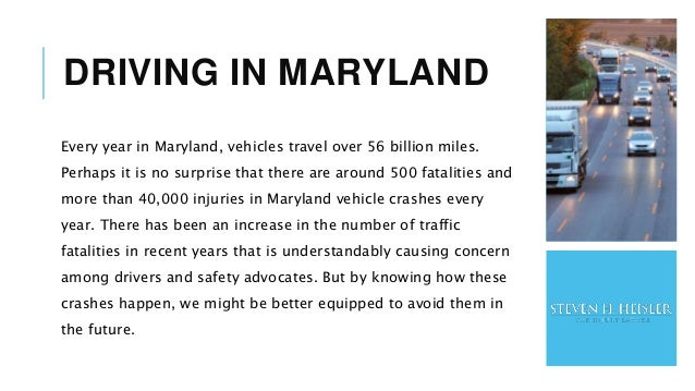Vehicle Accidents in Maryland Slide 2