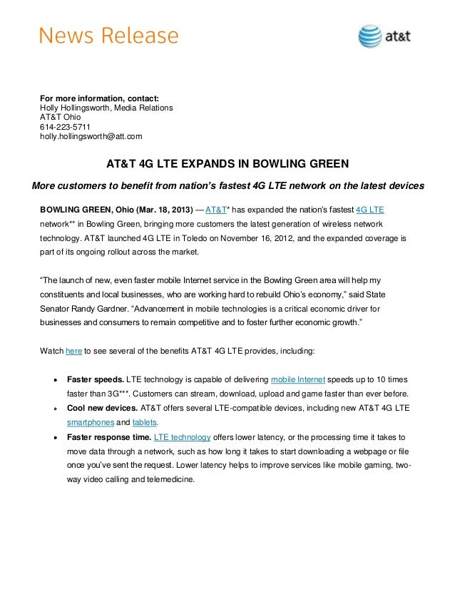 For more information, contact: Holly Hollingsworth, Media Relations AT&T Ohio 614-223-5711 holly.hollingsworth@att.com    ...