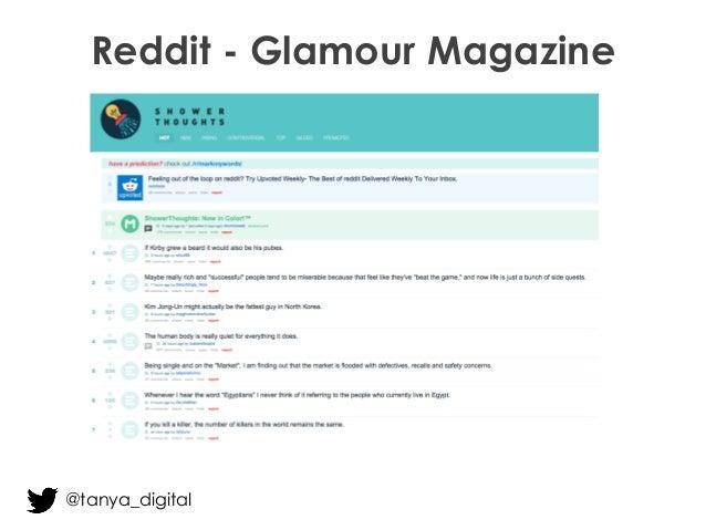 Reddit - Glamour Magazine @tanya_digital