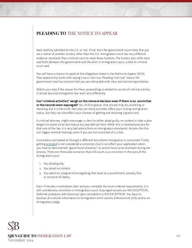 SJB's Guide to Immigration Law: Part I