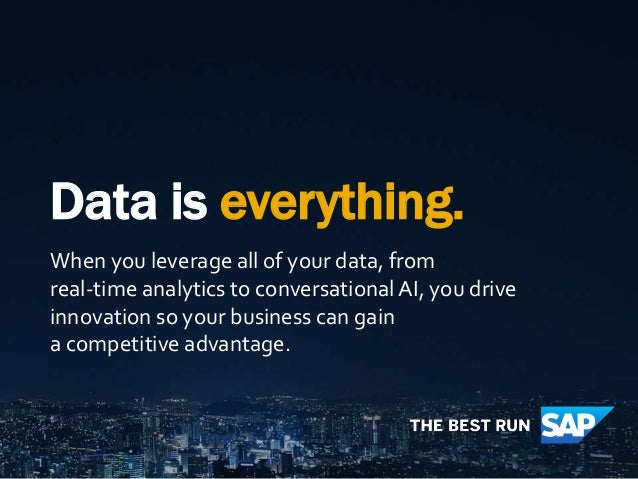 Data is everything. When you leverage all of your data, from real-time analytics to conversational AI, you drive innovatio...