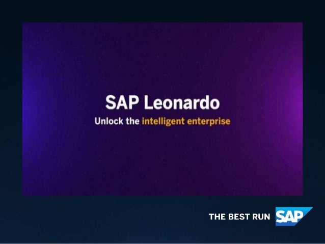 As data changes the way we live and work, harness its power with SAP Leonardo to enable business transformation,soyoucan ....