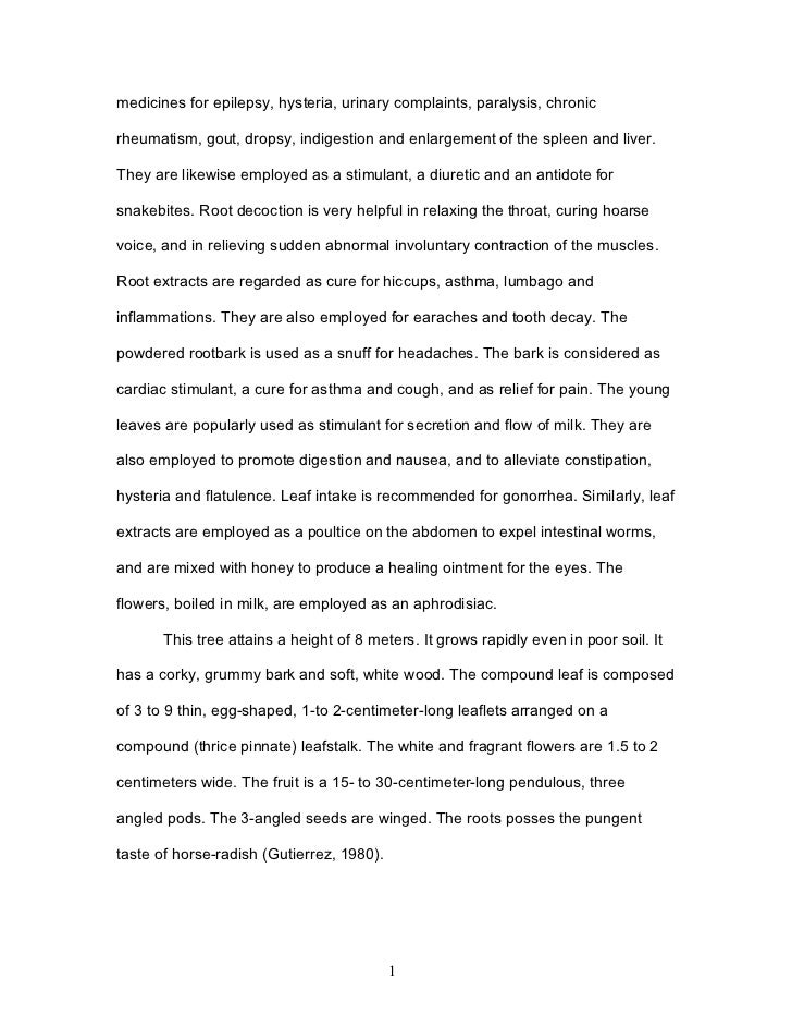 research paper about malunggay ointment