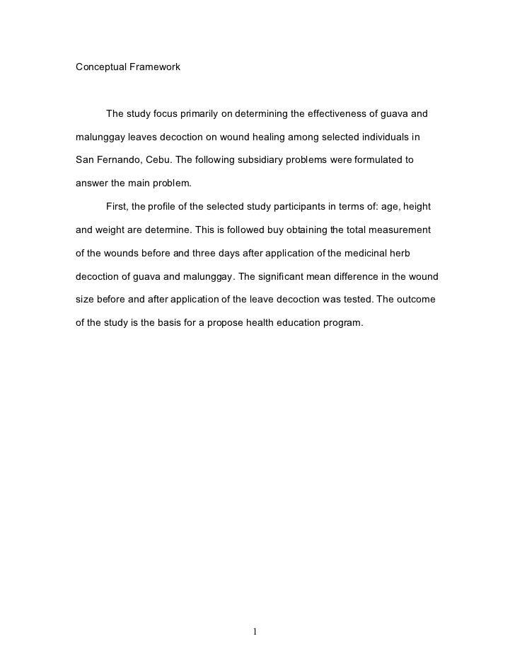 Malunggay theoretical framew