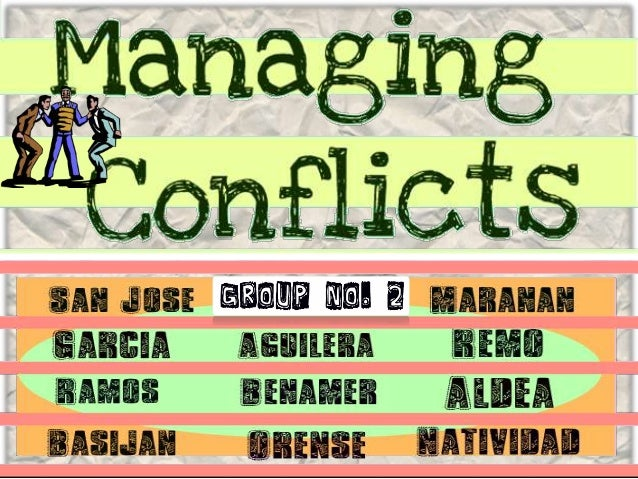 Conflict is the process that begins when one person perceives that another person has negatively affected, or is about to ...