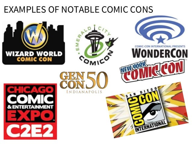 EXAMPLES OF NOTABLE COMIC CONS