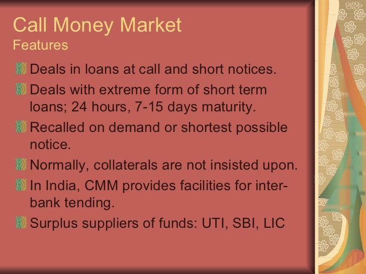 call money market in india