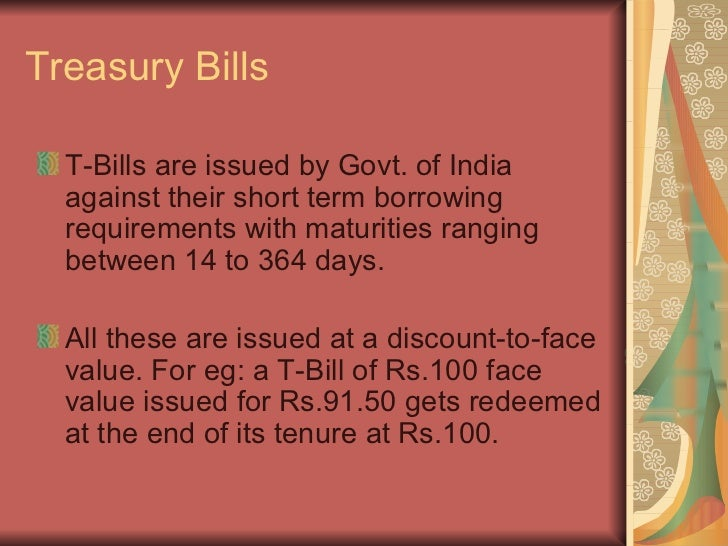 what is treasury bill in india