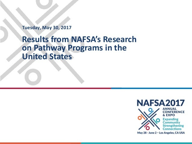 Results from NAFSA's Research on Pathway Programs in the United States Tuesday, May 30, 2017