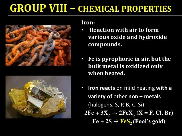 chemical properties of fe