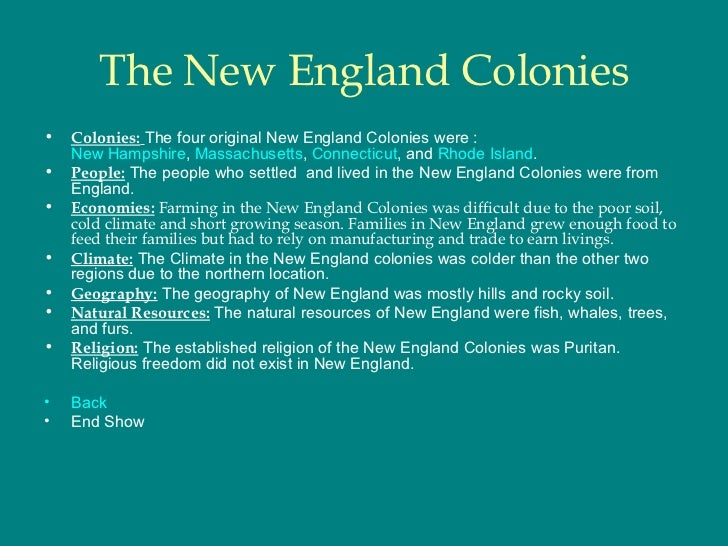 what where the similarities and differences between southern middle and new england colonies