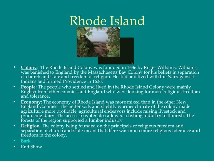 Demographics Of Rhode Island Colony