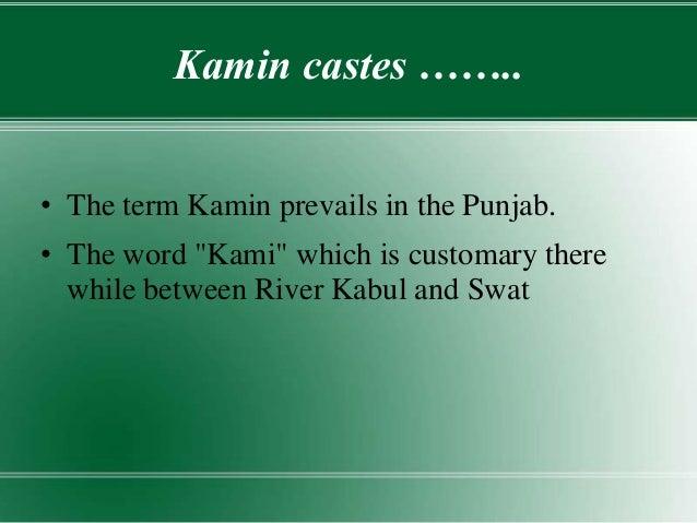 caste system in pakistan