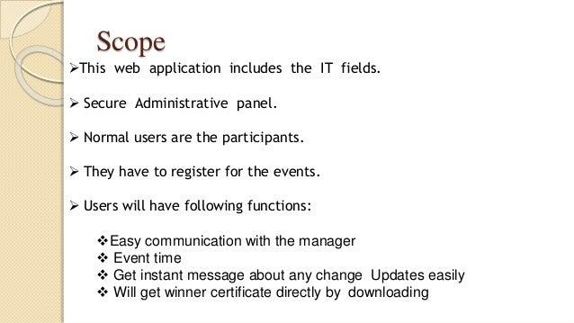 Event management system project pdf