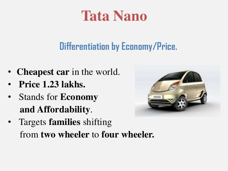 marketing strategy of tata nano