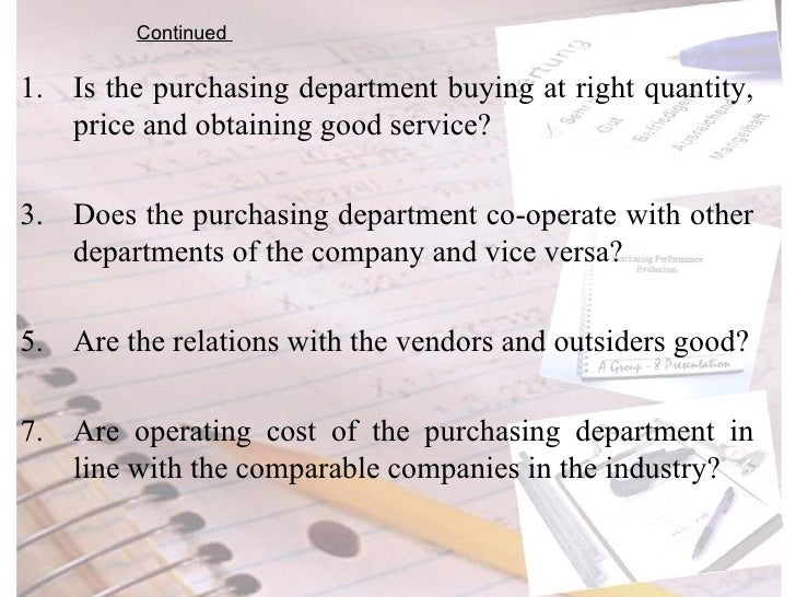 purchasing department essay Read this essay on purchasing strategy come browse our large digital warehouse of free sample essays get the knowledge you need.