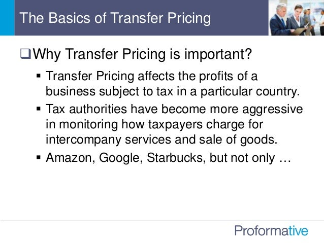 International Transfer Pricing Is The Tax Man About To