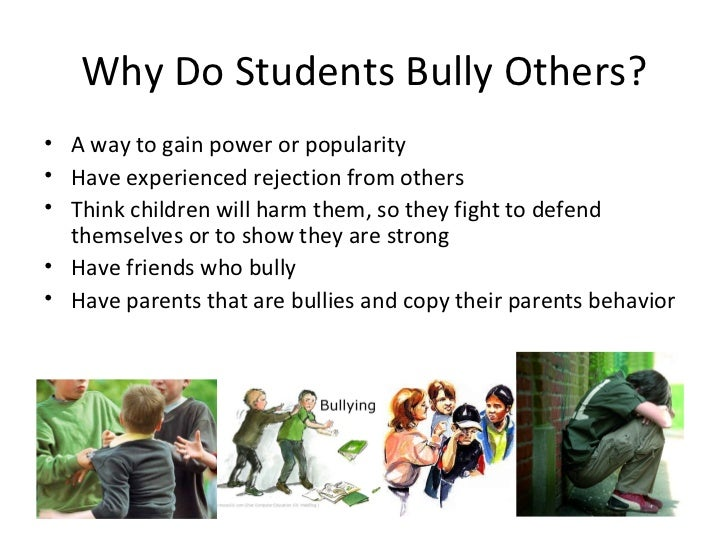 five reasons why people bully How does bullying affect people  feel angry and wonder why this is happening to you  am i being a bully drugs & alcohol.