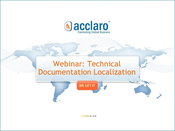 Webinar: Technical  Documentation Localization
