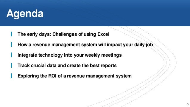 Transitioning From Excel To A Revenue Management System