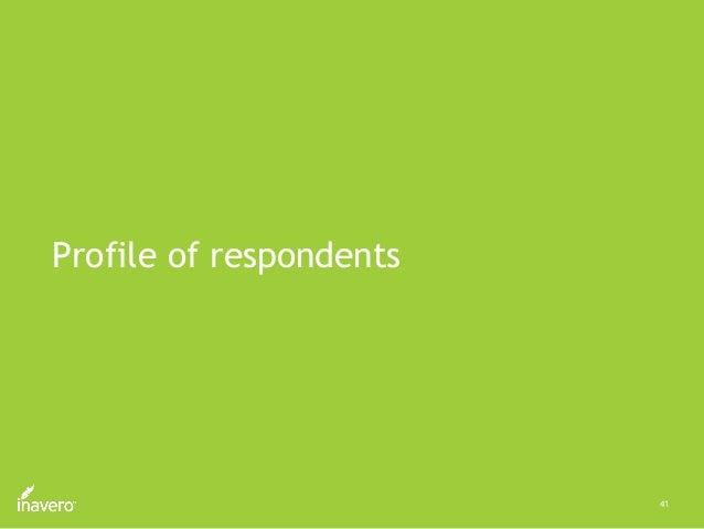 41 Profile of respondents