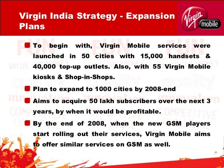 virgin mobile strategy Virgin mobile-the marketing strategies - free download as word doc (doc /  docx), pdf file (pdf), text file (txt) or read online for free this document talks.