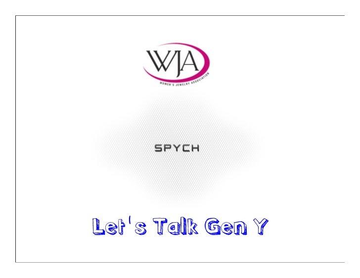 Let''s Talk Gen Y